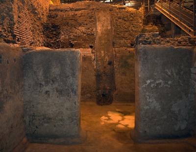 area archeologica sotterranea vicus caprarius roma