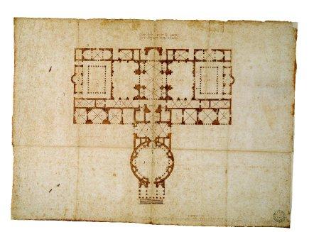 Terme di Agrippa, Disegno di Andrea Palladio, Vicenza, Pinacoteca di Palazzo Chiericati.